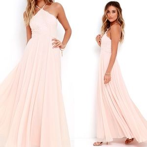 NEW lulu's light peach maxi dress